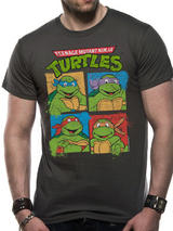 Teenage Mutant Ninja Turtles Group Shot T-Shirt Licensed Top Grey S