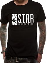 The Flash (Tv) S.T.A.R. Labs T-Shirt Licensed Top Black S