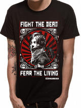 Walking Dead Fear The Dead T-Shirt Licensed Top Black S