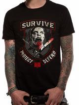 Walking Dead Survive T-Shirt Licensed Top Black L
