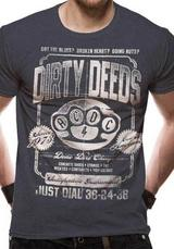 Ac/Dc Dirty Deeds Duster Mens T-Shirt Licensed Top Grey S