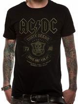 Ac/Dc Done Cheap Mens T-Shirt Licensed Top Black M