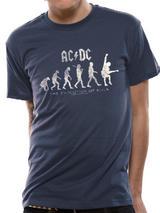 Ac/Dc Evolution Of Rock Mens T-Shirt Licensed Top Blue S
