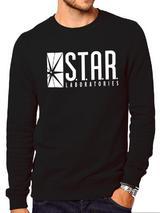 The Flash (Tv) Star Labs (Crewneck Sweatshirt) Sweatshirt Jumper Black M