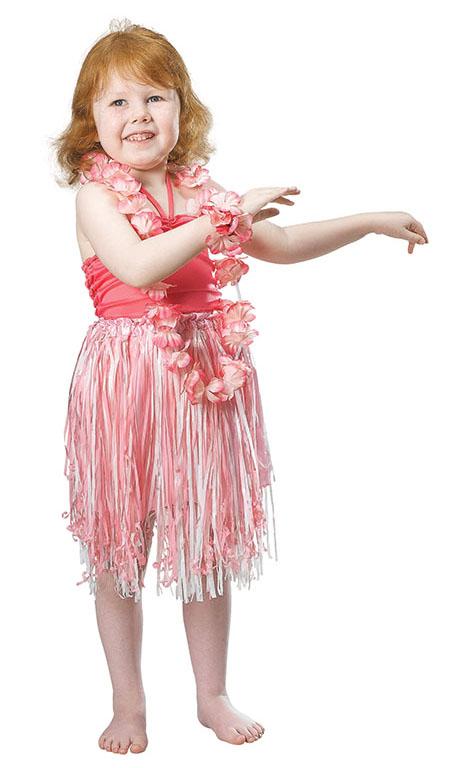 Childrens Pink Hula Girl Fancy Dress Costume Hawaiian Beach Party Kids 4-7 Yrs | eBay