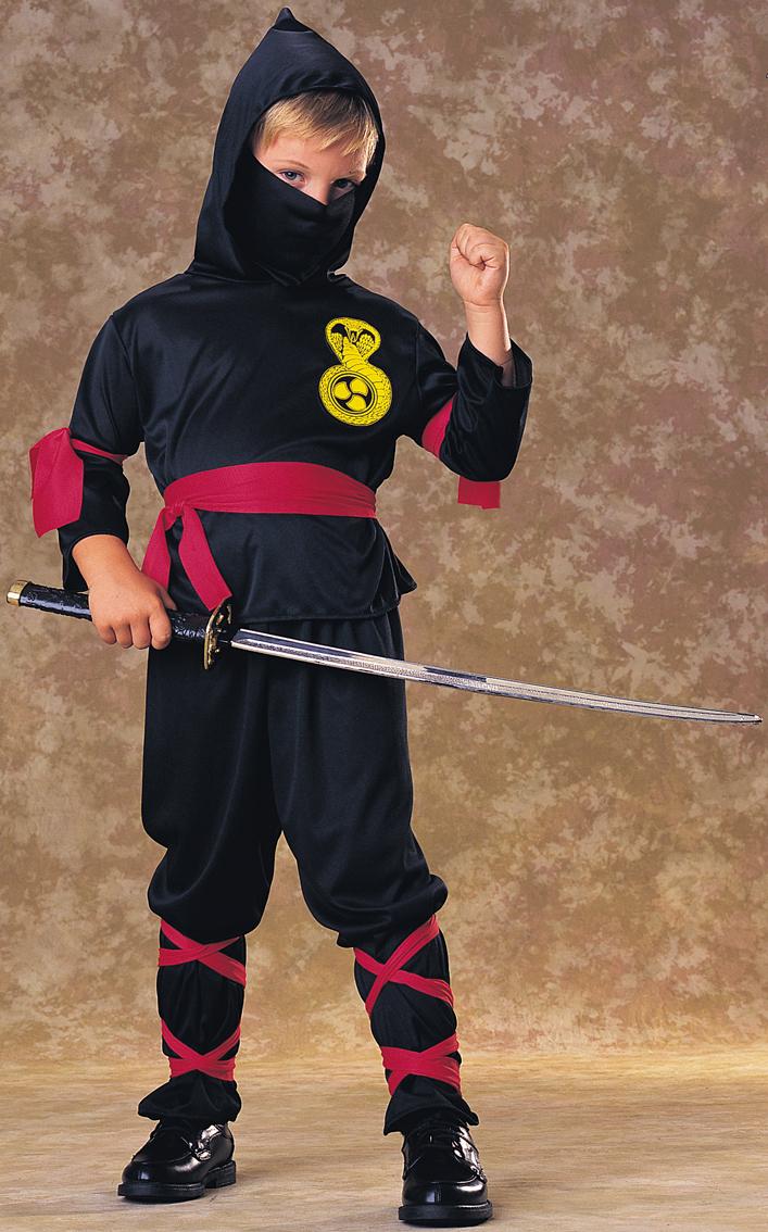 kinder schwarz ninja kost m japanischer krieger uniform 8. Black Bedroom Furniture Sets. Home Design Ideas