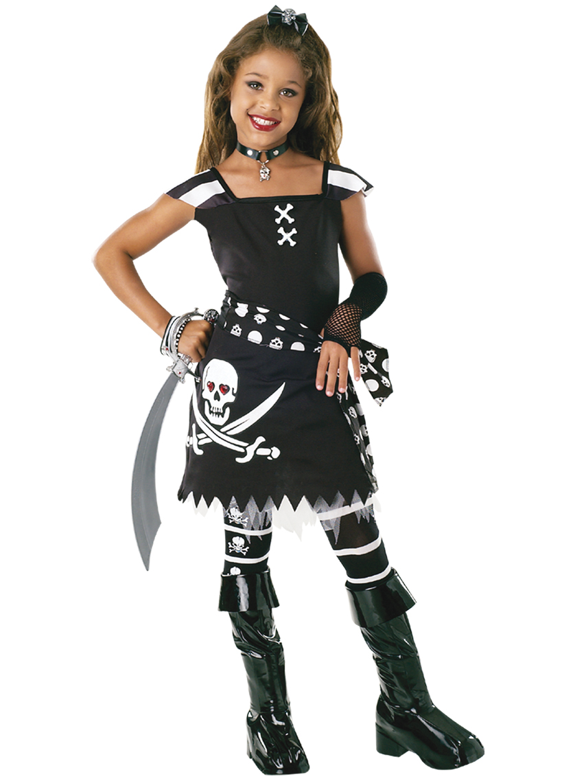 Childrens Girl Pirate Fancy Dress Costume Drama Queen Pirate Outfit 8-10 Yrs   eBay