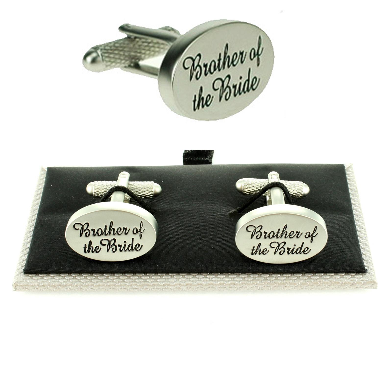 Mens Oval Silver Wedding Cufflinks Amp Gift Box Boxed Usher Groom Best Man Kit Set