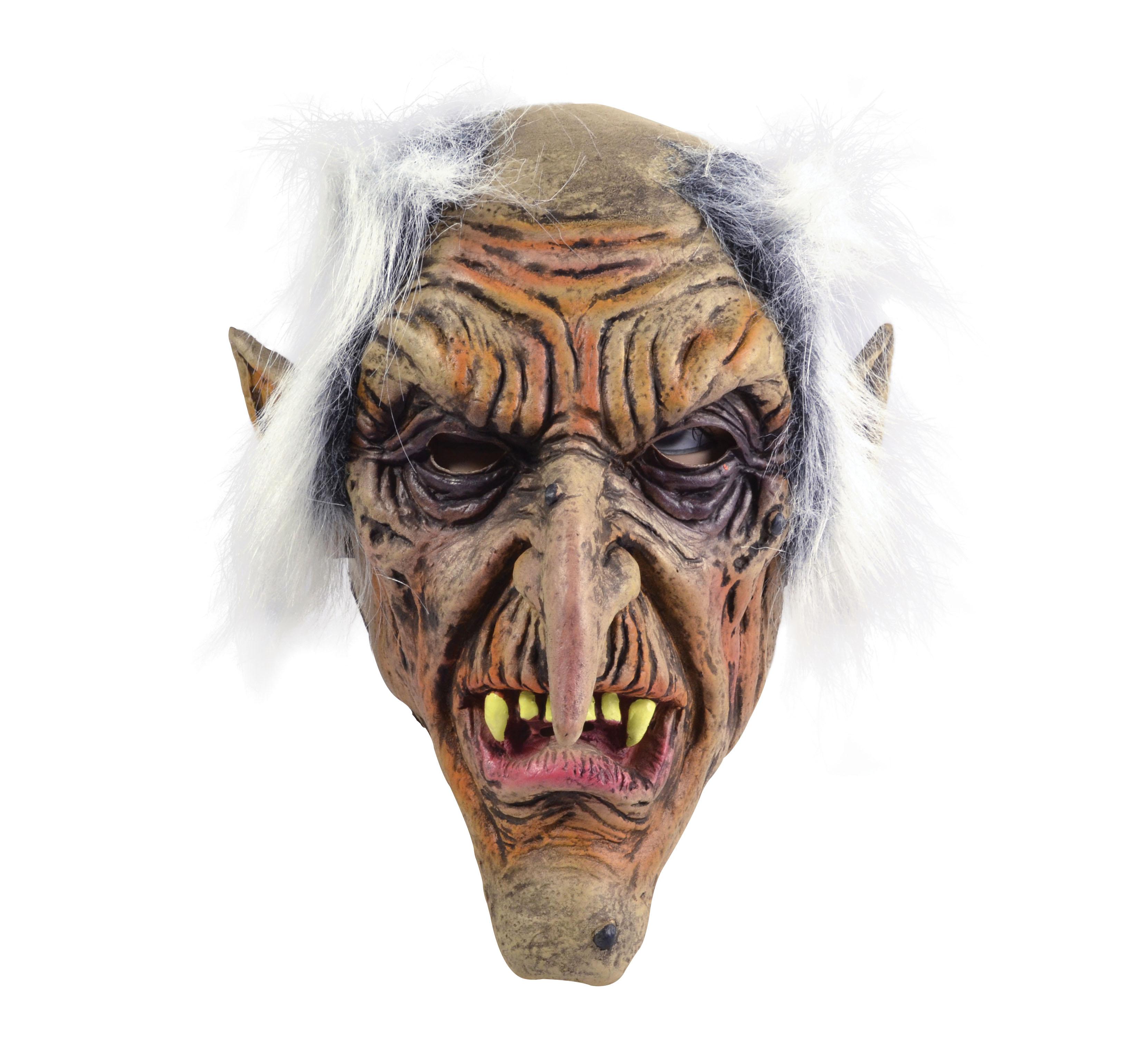 Scary Goblin Rubber Over Head Fancy Dress Mask Halloween Old Man ...