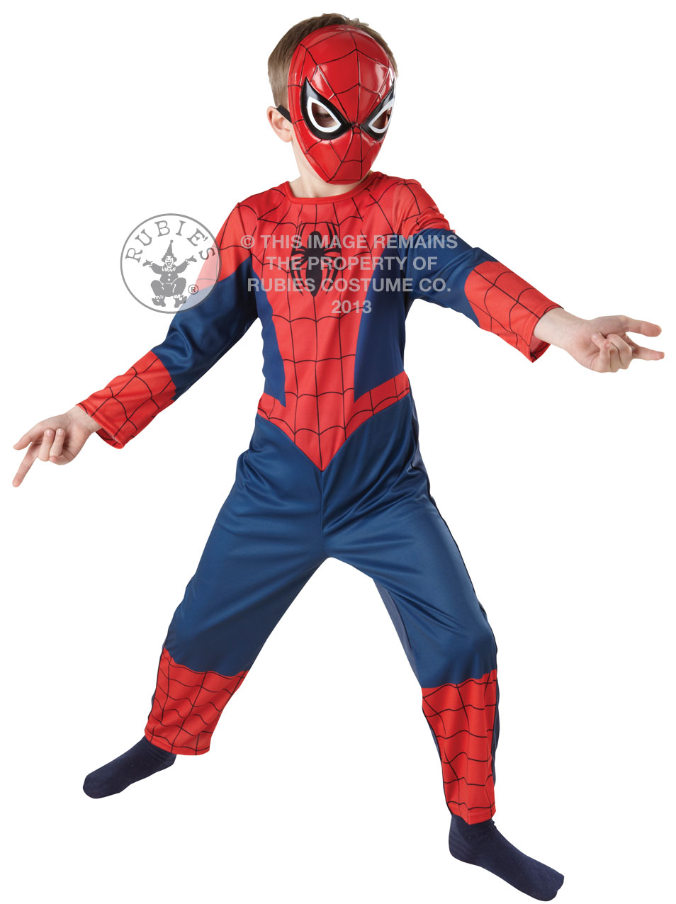 neu f r kinder spiderman luxus kost m held verkleidung maske 7 8 jahre alt. Black Bedroom Furniture Sets. Home Design Ideas