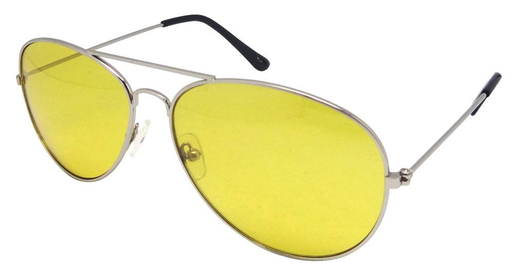 gelbe aviator sonnenbrille mode 80er jahre retro style. Black Bedroom Furniture Sets. Home Design Ideas