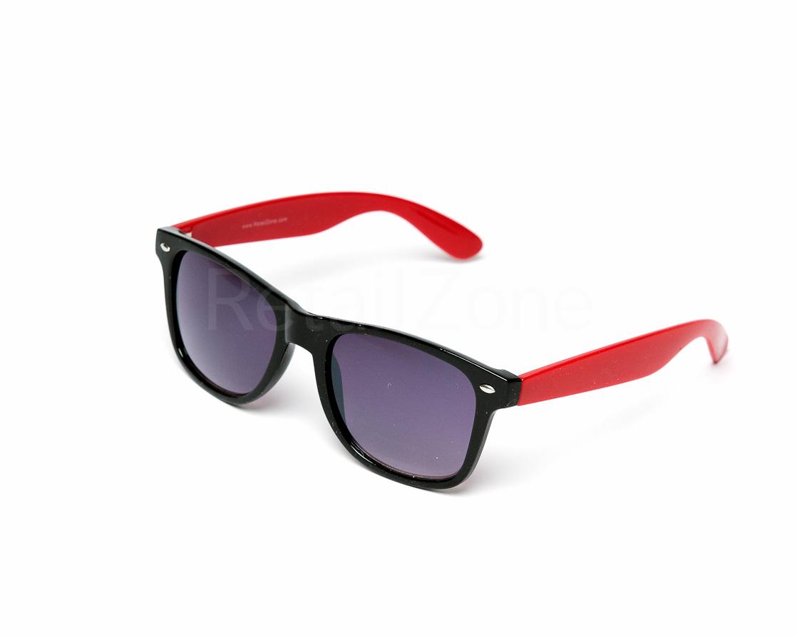 Wayfarer Aviator Sunglasses Black Frame & Coloured Arms ...