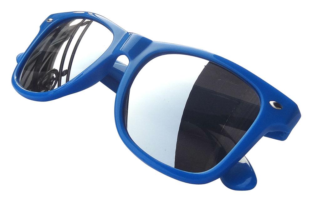 Lunettes de soleil wayfarer aviator bleu avec verre miroir for Lunette de soleil avec verre miroir