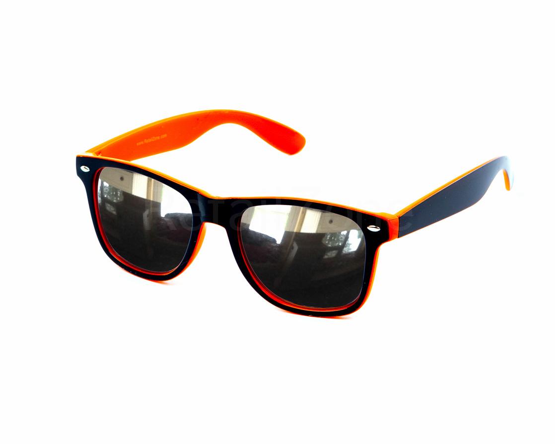 lunettes de soleil wayfare style festival deux tons orange noir miroir ebay. Black Bedroom Furniture Sets. Home Design Ideas
