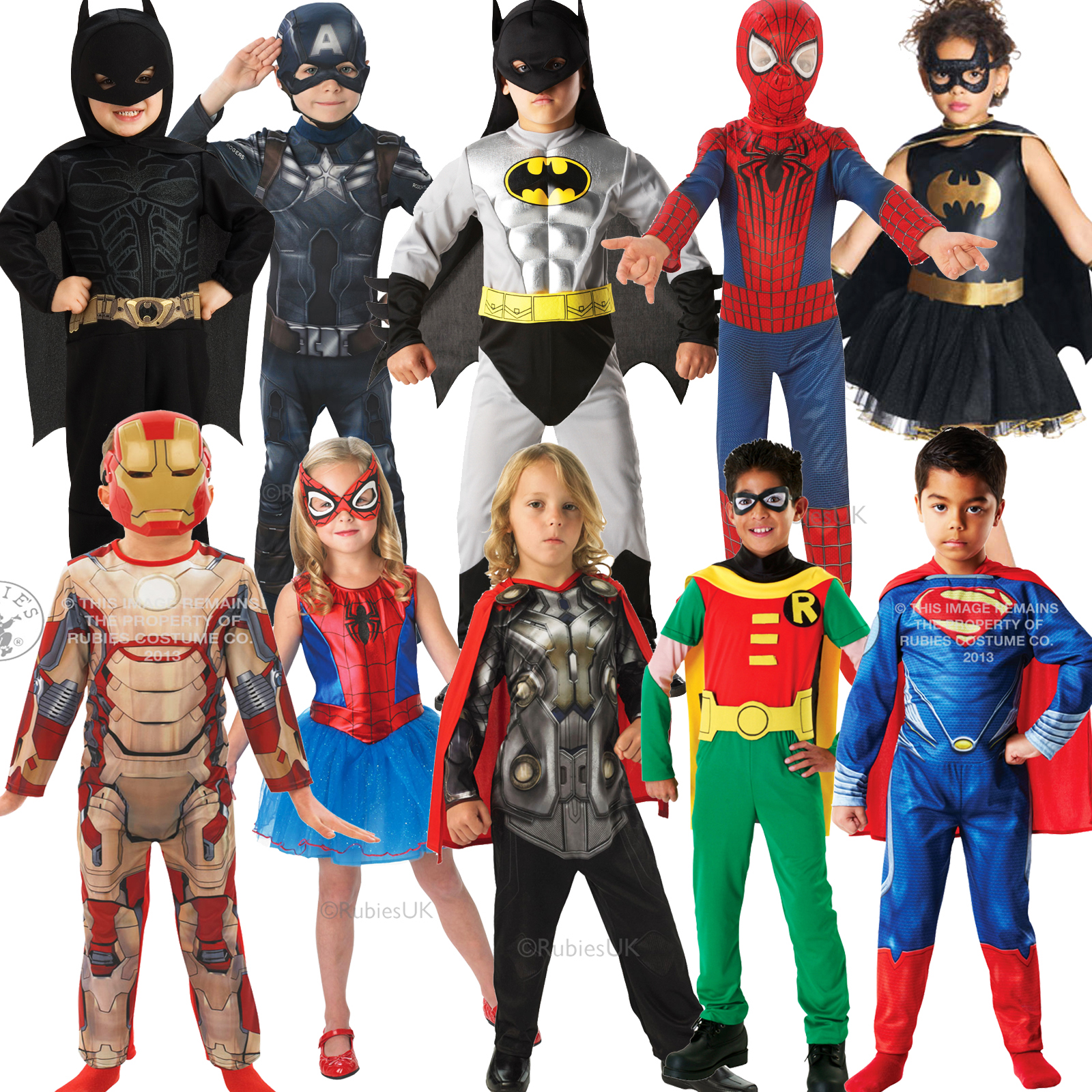Childrens Super Hero Marvel Dc Comic Book Week Day Fancy