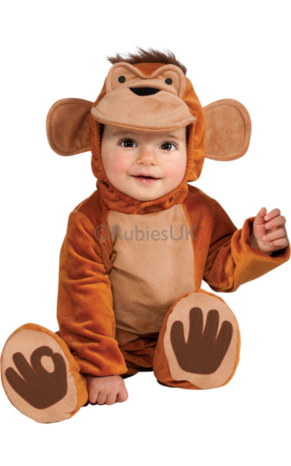 Kinder Baby Affe Kostüm Dschungel-Tier Outfit Verkleiden ...