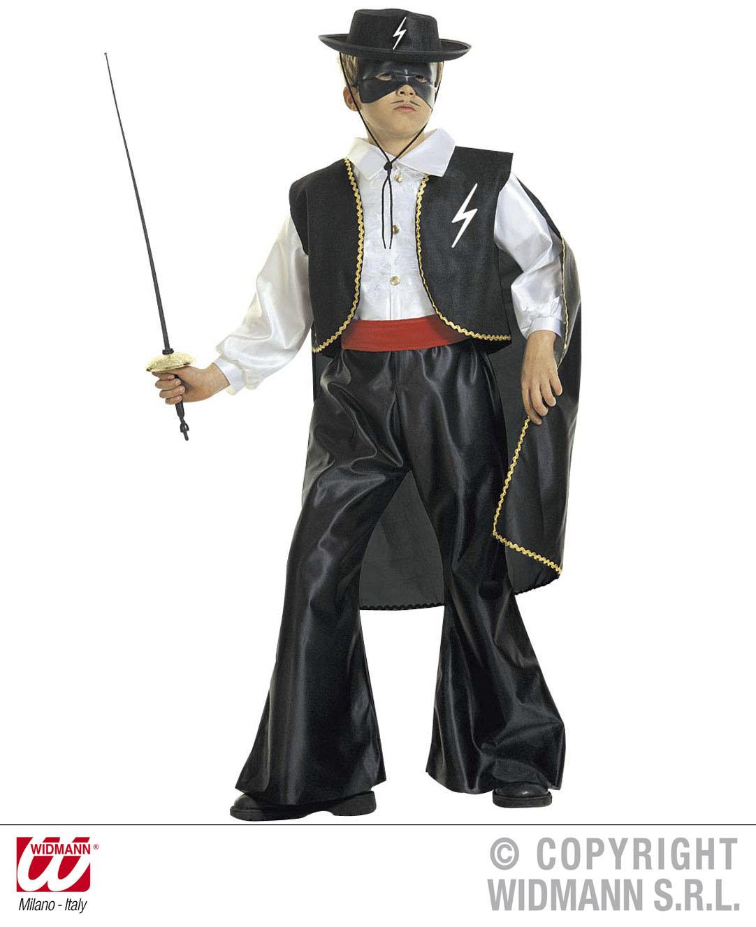 Kinder Zorro Kostüm Maskierter Schurke Ganove Outfit Bis 158cm