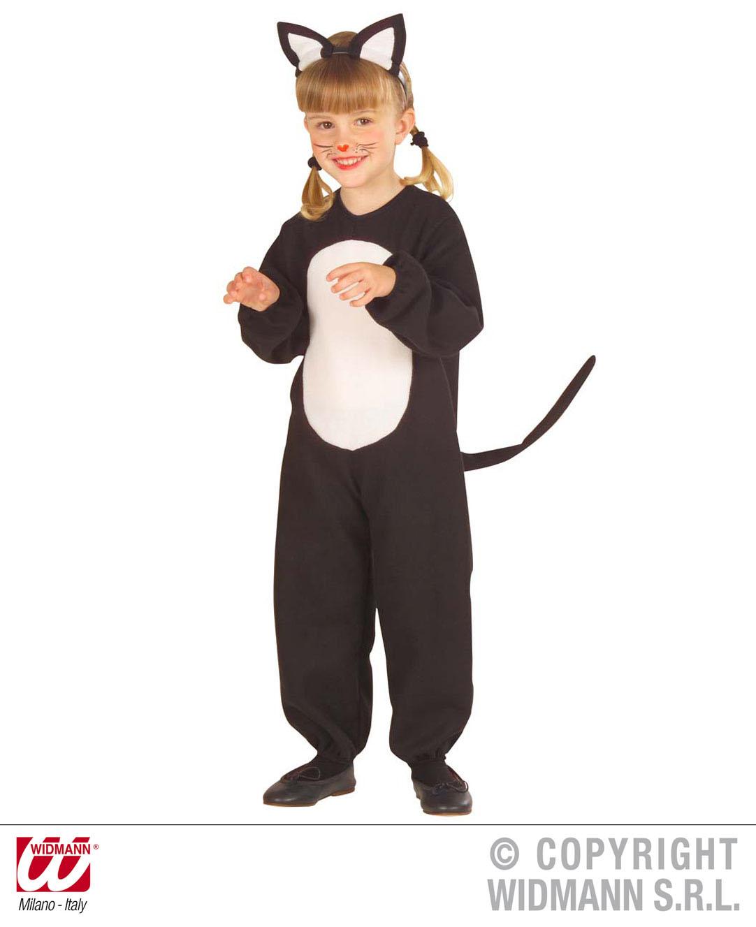 kinder schwarze katze kost m verkleidung halloween hexe katze outfit 3 4 jahre ebay. Black Bedroom Furniture Sets. Home Design Ideas