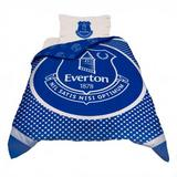 Everton Fc Duvet Set Blue & White Bullseye Single Bed Bedding Pillow Football