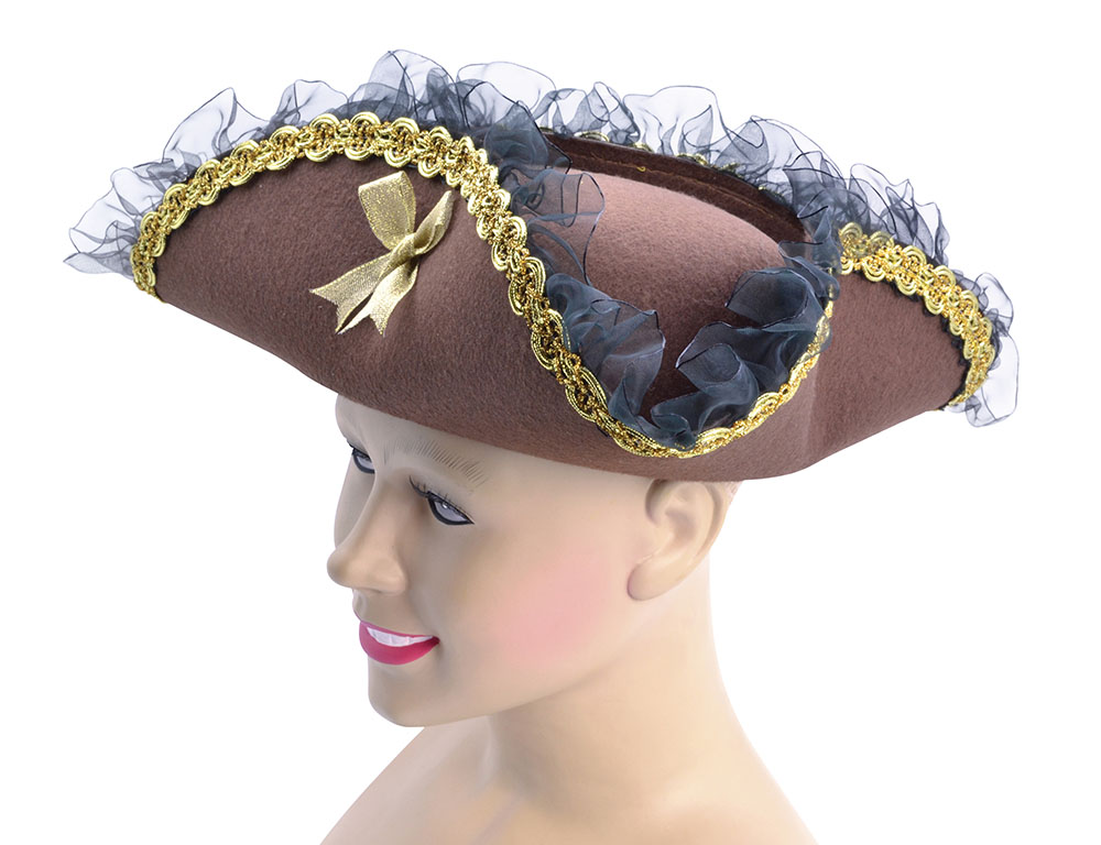 of the caribbean brown tricorn hat captain