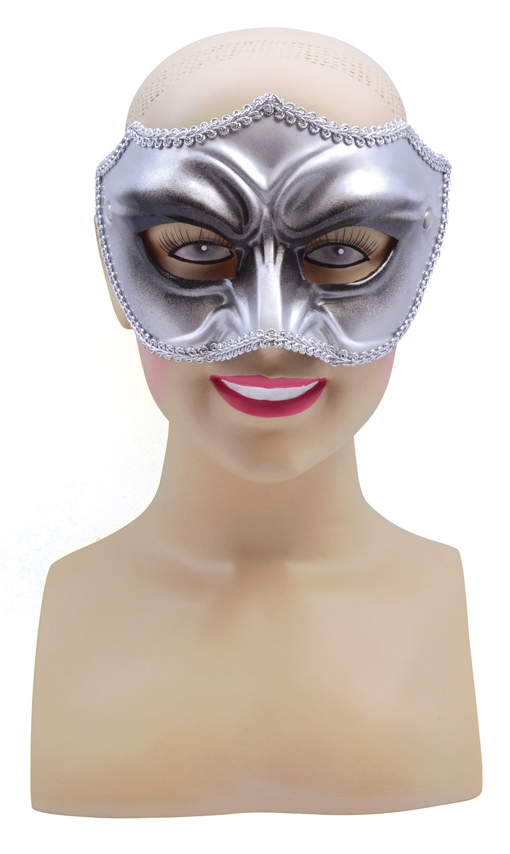 Male Silver & Black Half Face Masquerade Ball Mask Halloween ...