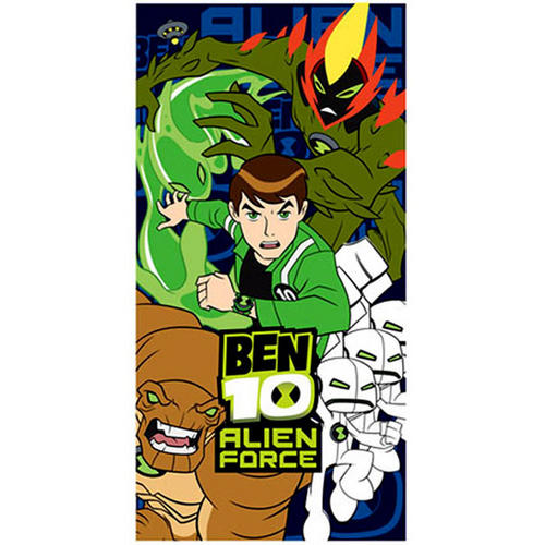 Ben 10 Ultimate Alien Childrens Printed Beach Bathroom Towel 140cm x 70cm