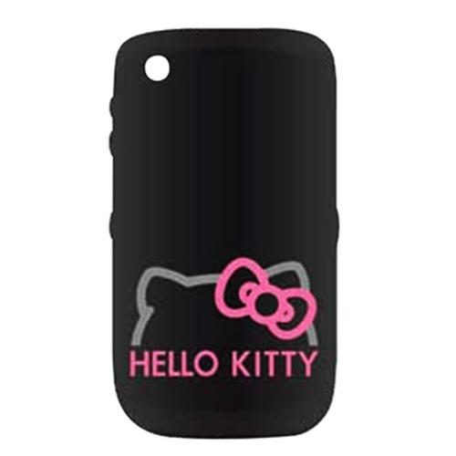 Hello Kitty Blackberry Hard Mobile Phone Case Cover Black With Pink Logo