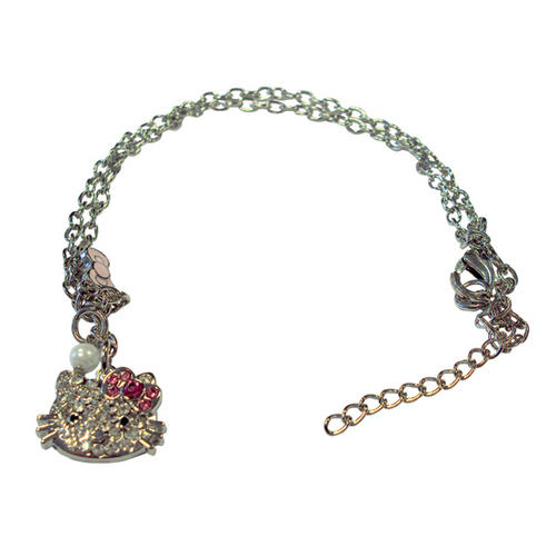 Hello Kitty Diamante Bracelet with Head Pendant - Official Merchandise