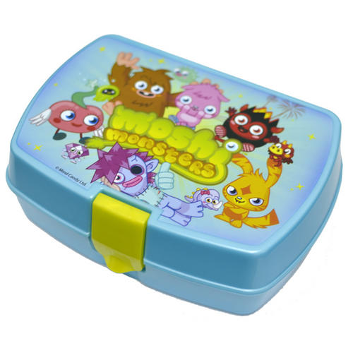 Childrens Moshi Monsters Plastic Lunch Sandwich Box