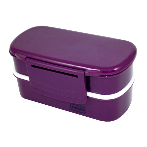 polar gear novo bento lunch box fork knife set purple raspberry ebay. Black Bedroom Furniture Sets. Home Design Ideas