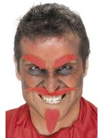 Red Devil Moustache Eyebrows &amp; Beard Fancy Dress