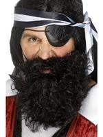 Pirate Beard Deluxe Black Fancy Dress