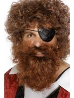 Pirate Beard Deluxe Brown Fancy Dress