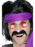 Seventies Tash / Moustache Black 60s 70s Fancy Dress