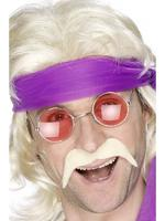 Seventies Blonde Tash / Moustache 60s 70s Fancy Dress