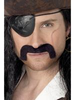 Pirate Tash / Moustache Black Fancy Dress