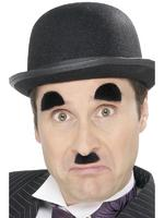 Chaplin Tash / Moustache &amp; Eyebrows Black Fancy Dress