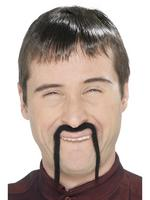 Chinese Mandarin Tash / Moustache Black Fancy Dress