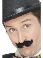 Edwardian Tash / Moustache Black Fancy Dress