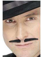 Black Spiv Tash / Moustache Fancy Dress
