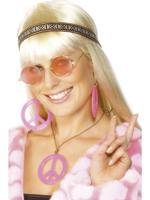 Hippy / Hippie Kit Headband Specs Jewellery Fancy Dress