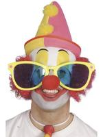 Giant Clown Sunglasses Assorted Colours Fancy Dress