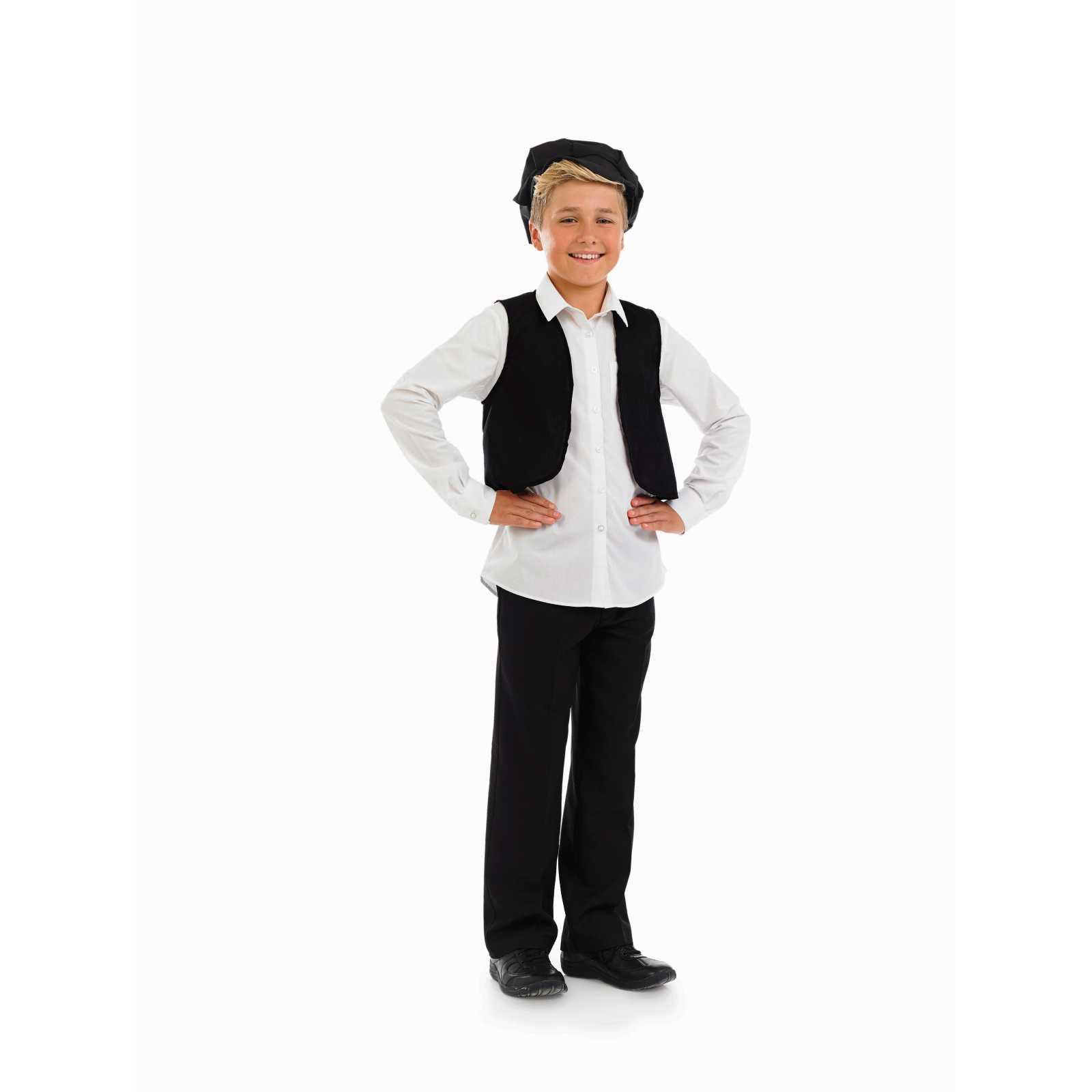 Victorian-Cap-amp-Waistcoat-Boys-Fancy-Dress-Outfit-Child-Fun-Shack-Historical