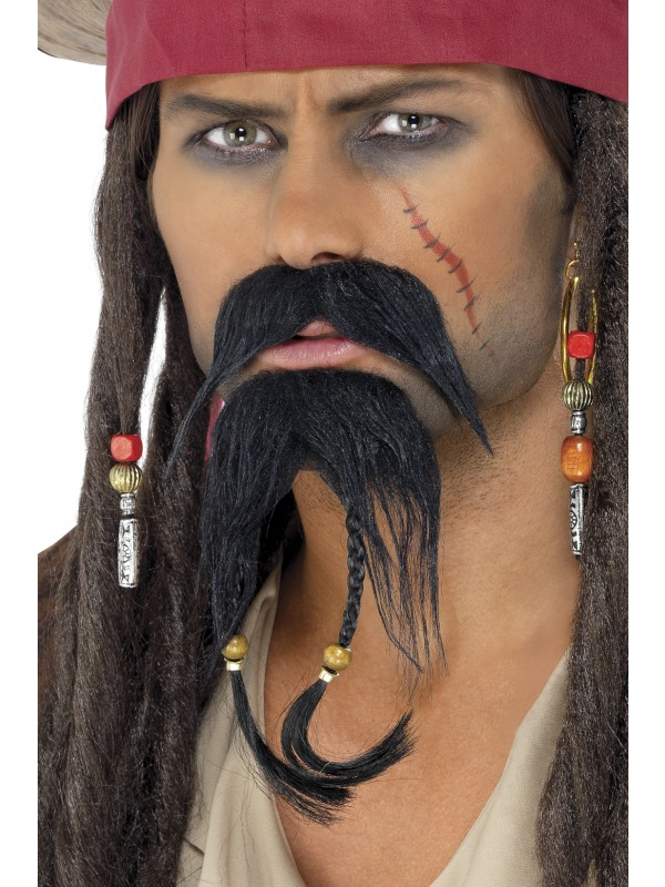 Pirate Facial Hair Set Fancy Dress