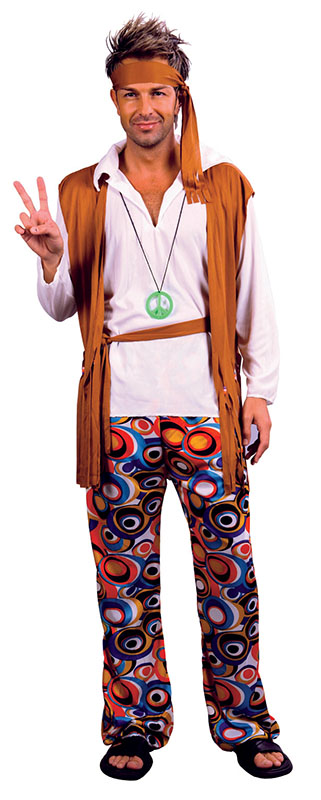 Hippy hippie uomo costume anni 39 70 39 60 fancy dress - Costume da bagno traduzione ...