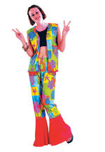 View Item Flower Power Hippy Girl Costume