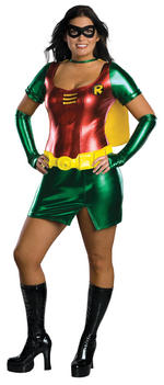 Batman The Robin Womens Costume Fancy Dress XL