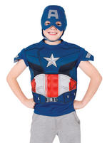 Kids The Avengers Captain America Dress Up Set Fancy Dress Small