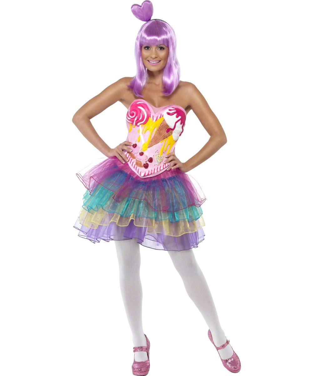 Kostüm Damen Süßigkeiten Königin Candy Queen Faschingskostüm On
