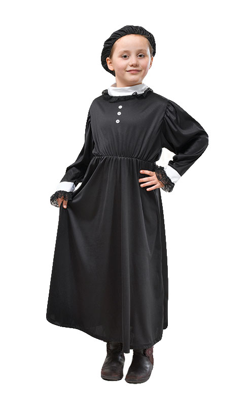 Queen Victoria Costume Kids Fancy Dress Girls School Play Victorian